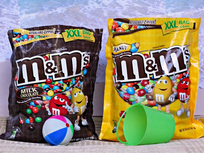 M&M Beach Ball Cake bags