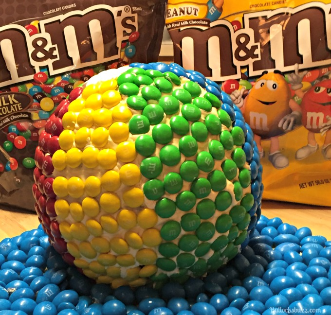 M&Ms Beachball Cake