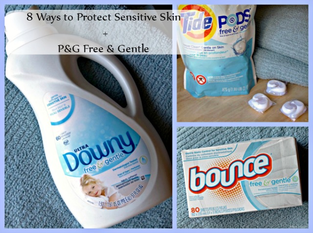 8 Ways to Protect Sensitive SKin + P&G Free & Gentle Laundry Products