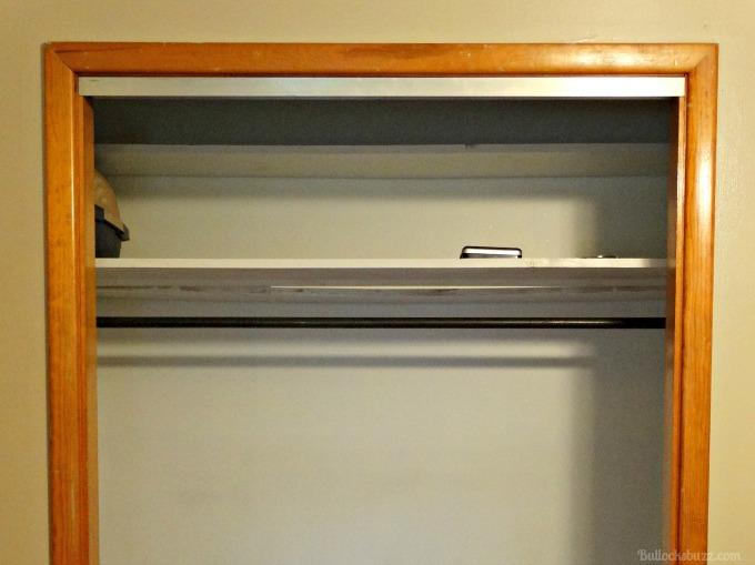 Six Tips for Organizing Closets SOFI closet top shelves before