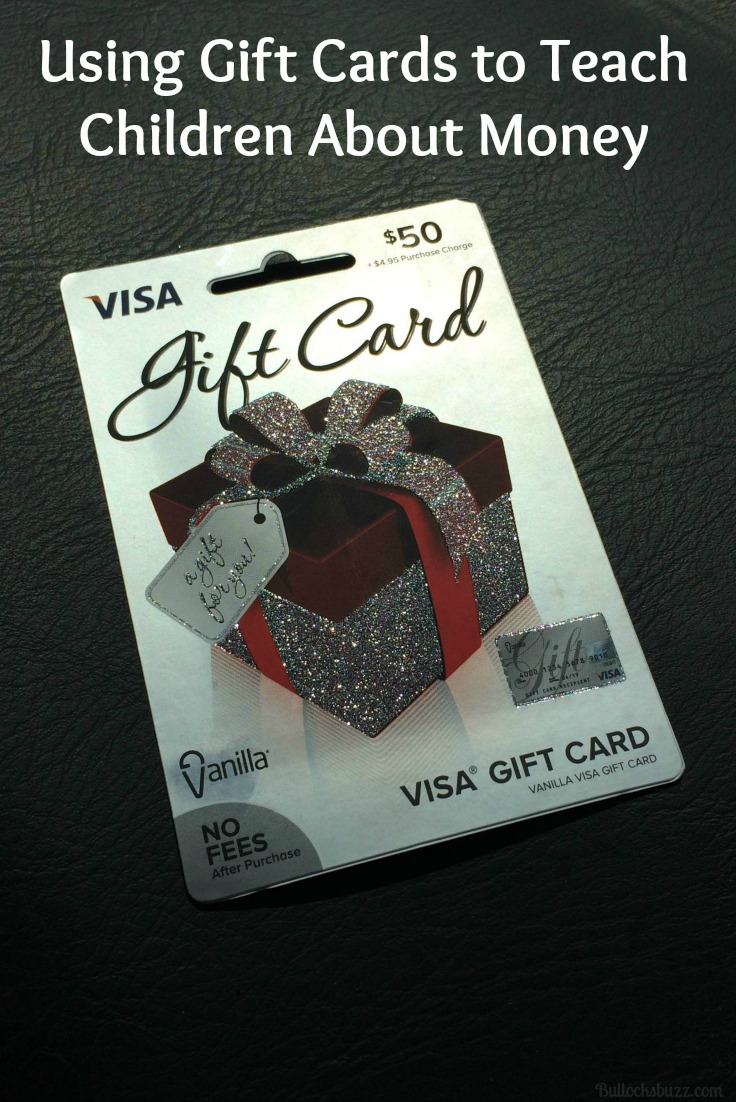 how to get cash from a visa gift card using gift cards to teach children about money bullock s 5576