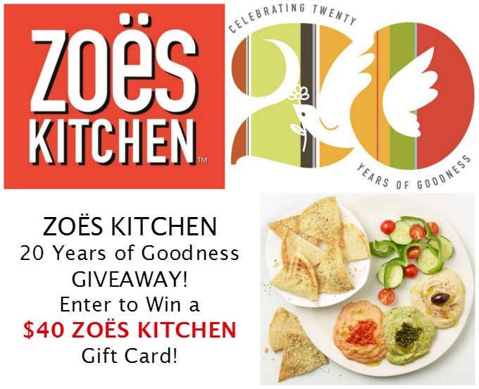 ZOËS kitchen giveaway