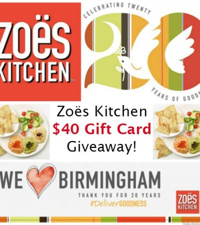 Zoës Kitchen 20 Days of Goodness: Thank You Birmingham + $40 Zoës Kitchen Gift Card Giveaway!