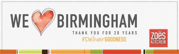Zoes Kitchen 20 Days of Goodness Birmingham