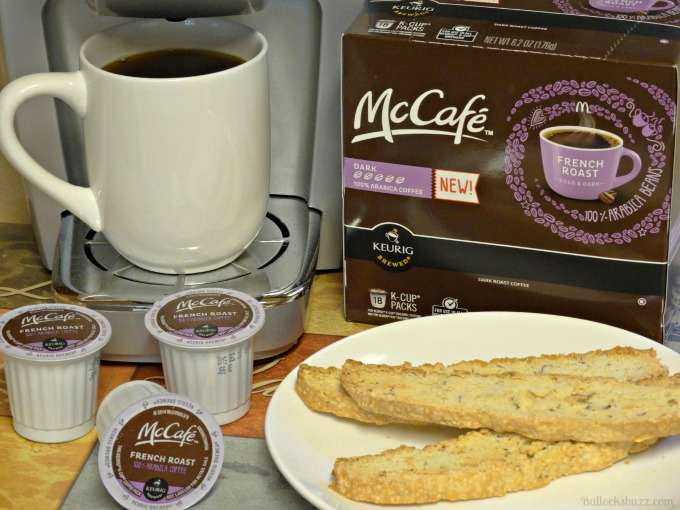 biscotti and mccafe coffee