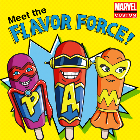 popsicle_and_marvel_comics_flavor_force new comic book series