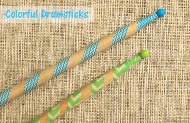 Colorful Drumsticks DIY Pringles Summer Jam