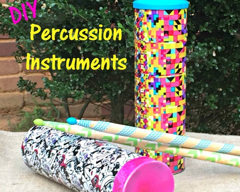 Kid Crafts DIY Percussion Instruments