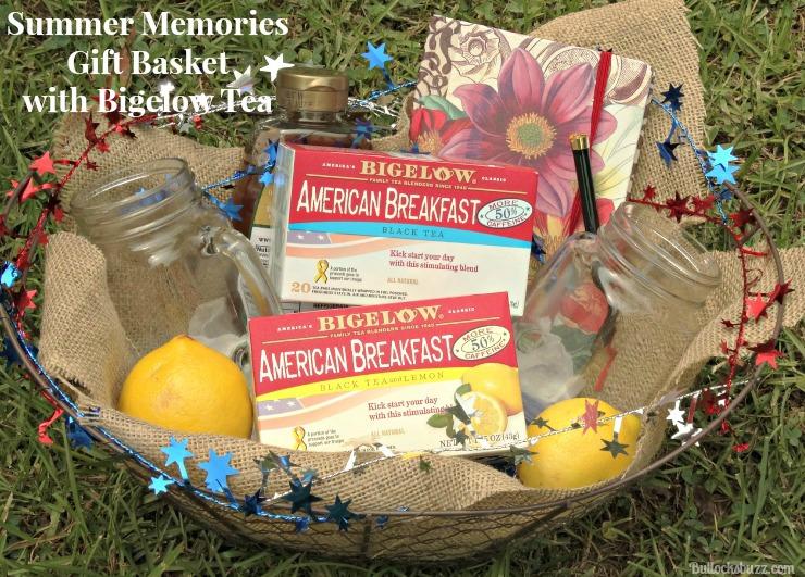 Gift Basket and Bigelow Tea finished basket main image