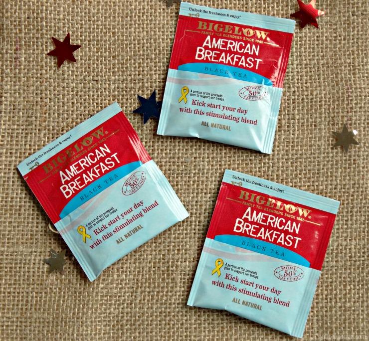 Gift Basket and Bigelow Tea tea packs