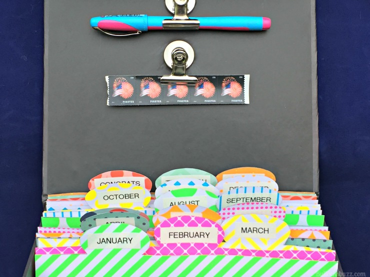 Hallmark Greeting Cards DIY Organizer finished