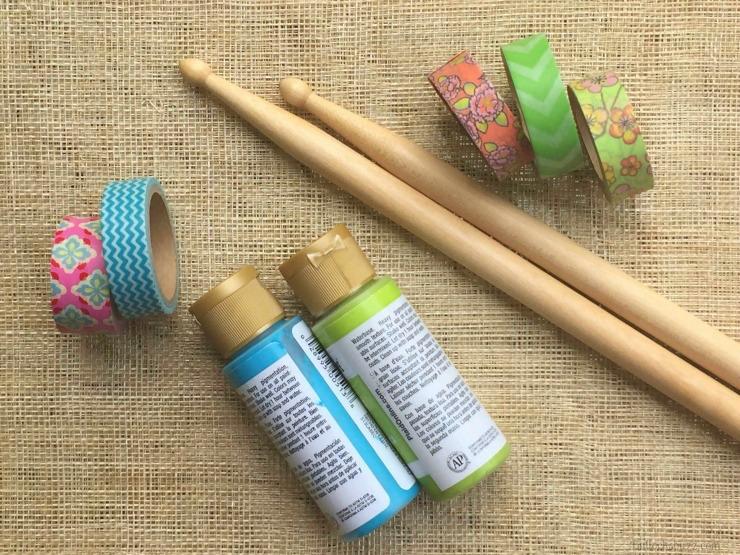 drum sticks DIY pringles summer jam materials you need