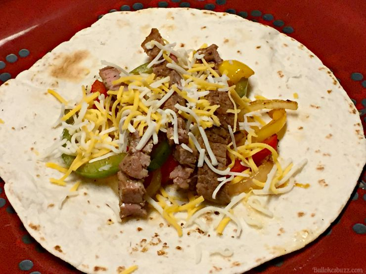grilled steak fajitas add cheese