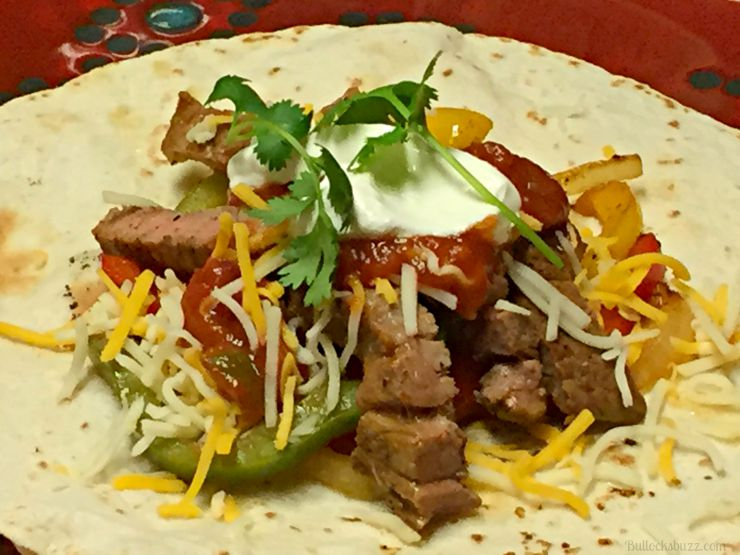 grilled steak fajitas add cilantro