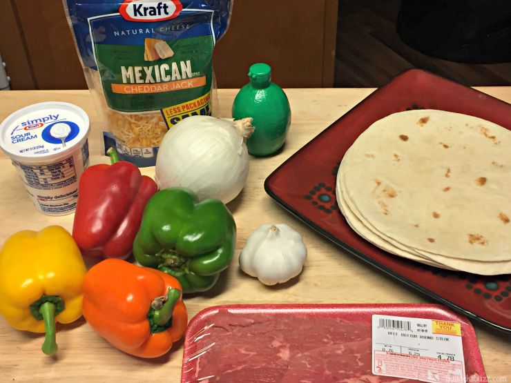 grilled steak fajitas ingredients