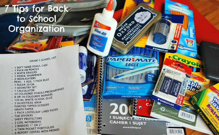 7 Tips for Back to School Organization main image