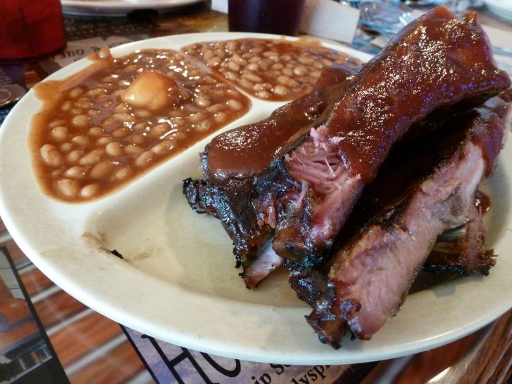 BBQ Rib Plate in Alabama