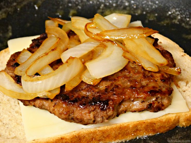 Classic Patty Melt add onions to meat