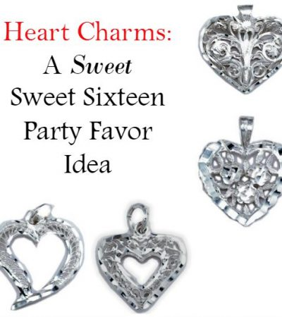 Heart Charms: A 'Sweet' Sweet Sixteen Party Favor Idea