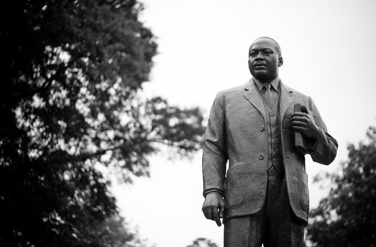 MLK statue in Kelly Ingram Park Birmingham