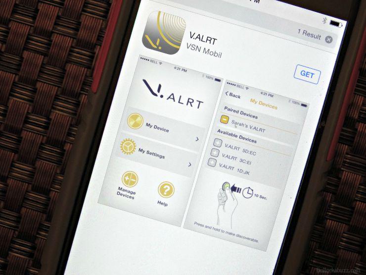 V.ALRT Personal Emergency Alert Device app