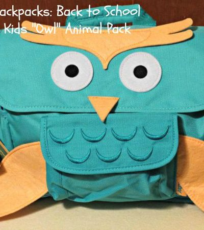 "Bixbee Backpacks: Back to School with the ""Owl"" Kids Animal Pack"