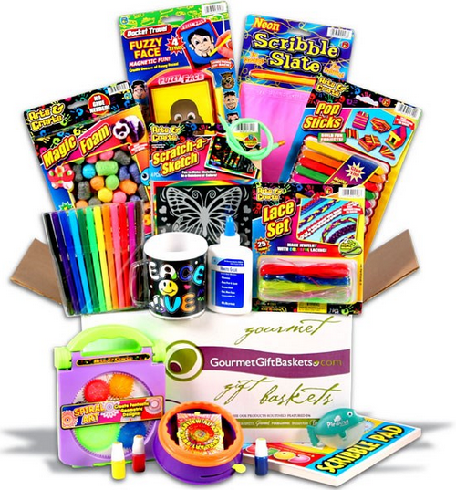 gourmet_gift_baskets_arts_and_crafts_gift_basket_and_back_to_School_college_care_packages