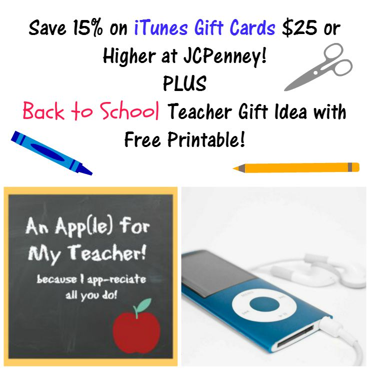 iTunes Teacher Appreciation gift JCPenny main image