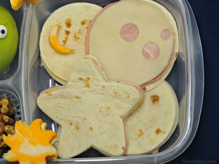 you're out of this world lunchbox theme wet ones wipes ham and swiss mini moon tortilla sandwiches