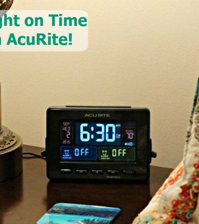 Be Right on Time with AcuRite: Atomic Clock with Dual Alarm, USB Charging and Temperature