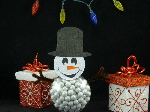 Cricut Explore Air craft idea DIY Christmas Snowman treats