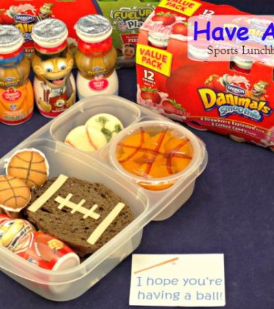 """Have A Ball!"" Sports Themed Lunch Box Idea + Free Printable Lunch Note #FuelTheirAdventures"