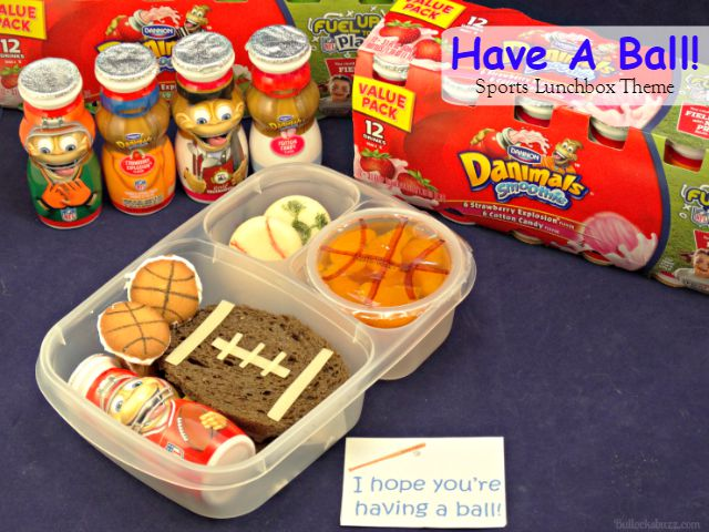 """""""Have A Ball!"""" Sports Themed Lunch Box Idea + Free Printable Lunch Note #FuelTheirAdventures"""