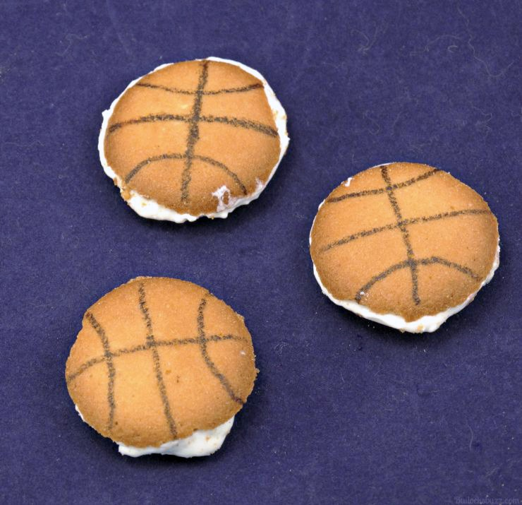 Sports Themed Lunch basketball cookies