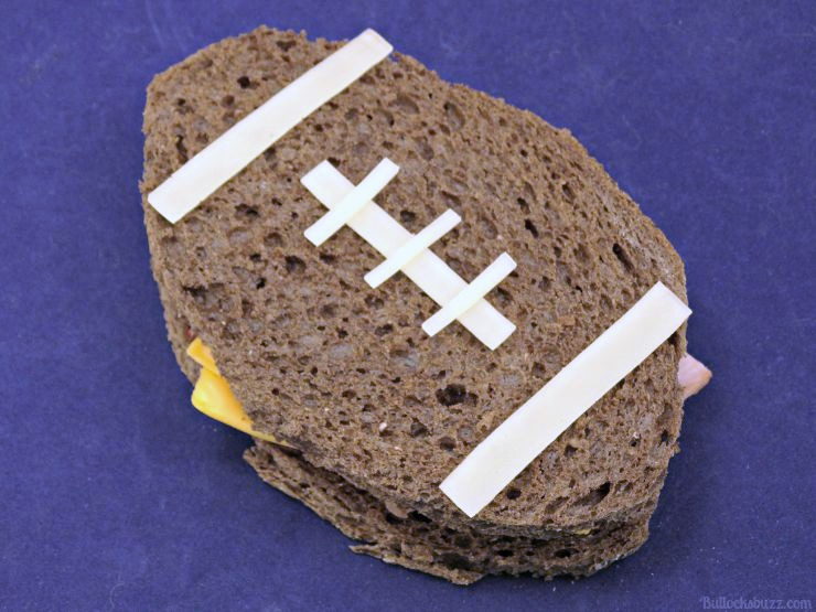 Sports Themed Lunch football sandwich