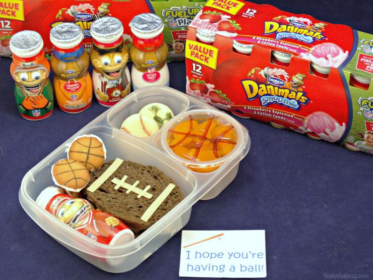 Sports Themed Lunch for kids with free printable note