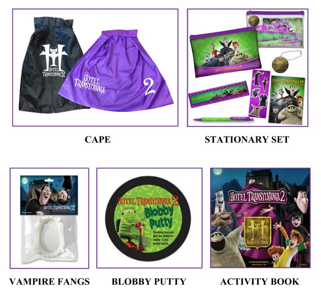 Hotel Transylvania 2 prize pack giveaway