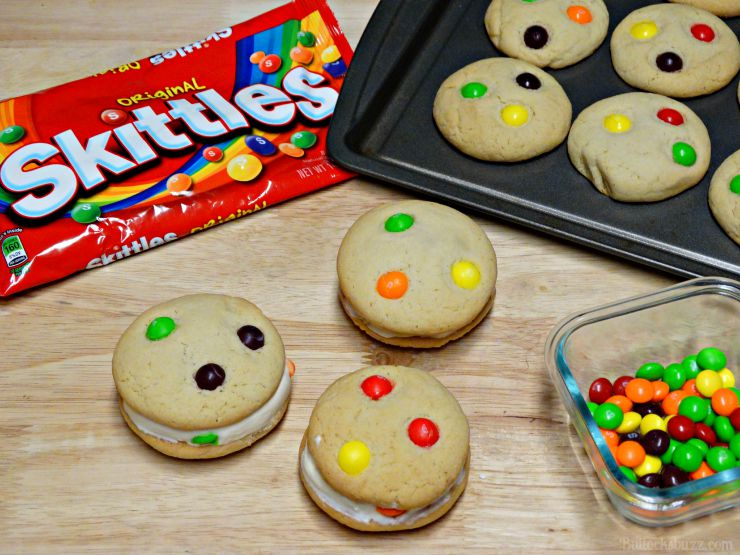 Skittles® Cookie Ice Cream Sandwiches cookies