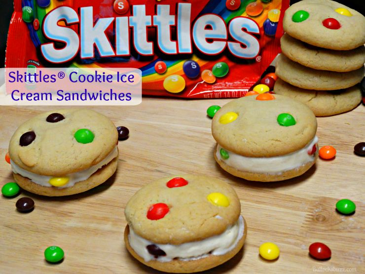 Skittles® Cookie Ice Cream Sandwiches done featured image