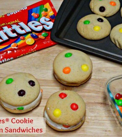 Skittles® Cookie Ice Cream Sandwiches