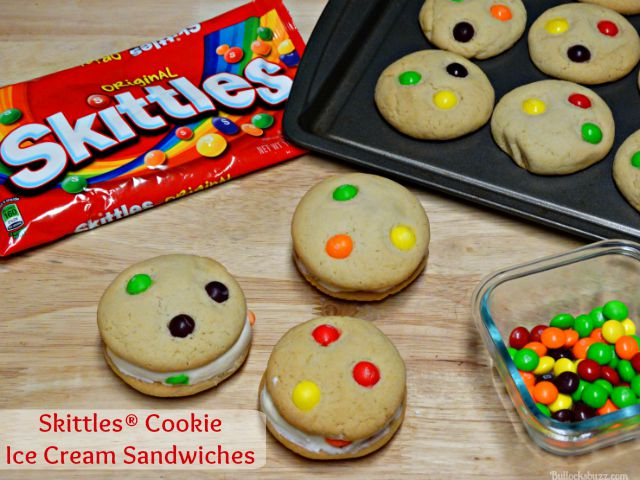 Skittles® Cookie Ice Cream Sandwiches
