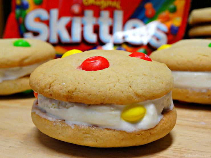 Skittles® Cookie Ice Cream Sandwiches finished