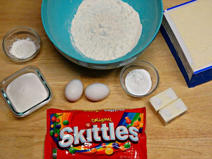Skittles® Cookie Ice Cream Sandwiches ingredients
