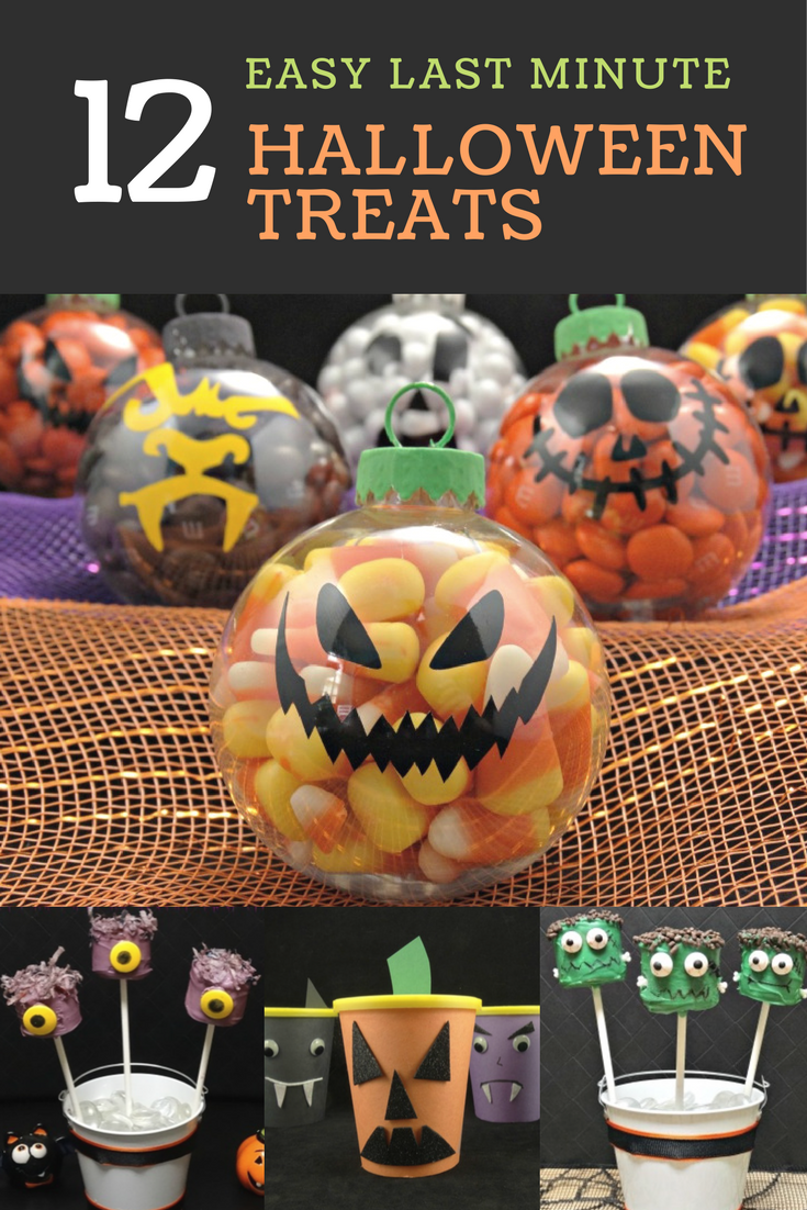Don't be frightened if you need a last-minute treats idea, instead check out this collection of easy-to-make, inexpensive last minute Halloween treats that are perfect for a Halloween party, fall festival or just because.