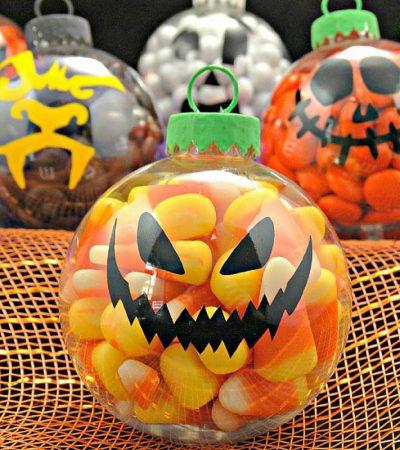 DIY Halloween Candy Ornaments