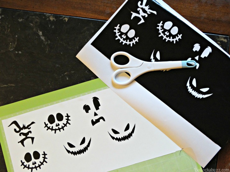 Diy halloween candy ornaments cut faces using cricut
