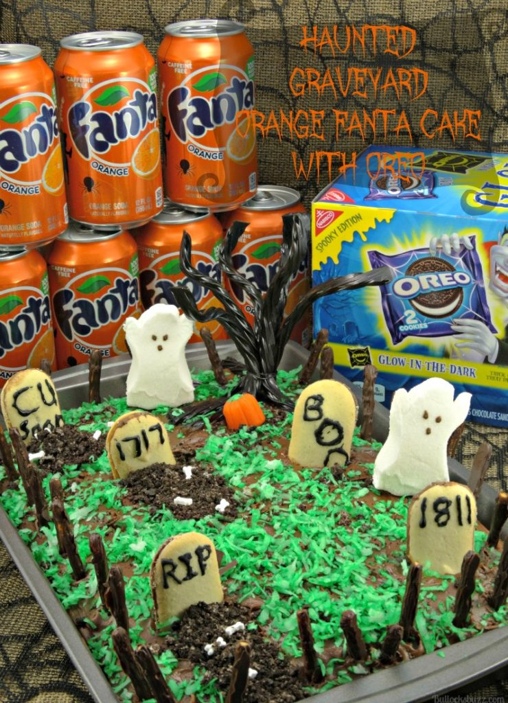 A hauntingly delicious Halloween treat, this Orange Fanta Cake with OREO cookies will have them screaming for more! Plus it's easy to make!