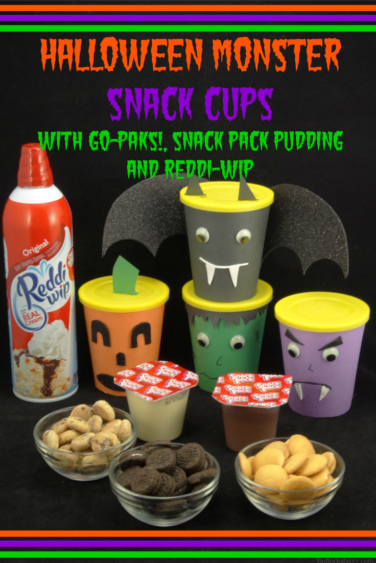 Halloween Treats Halloween Monster Snack Cups Go Packs make a great party treat for Halloween!