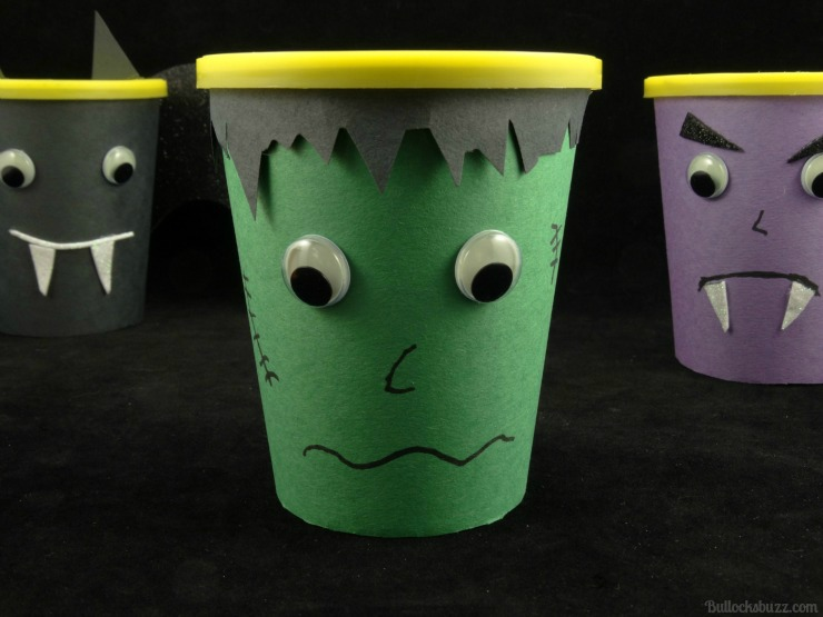 Halloween Monster Snack Cups Go Paks frankenstein