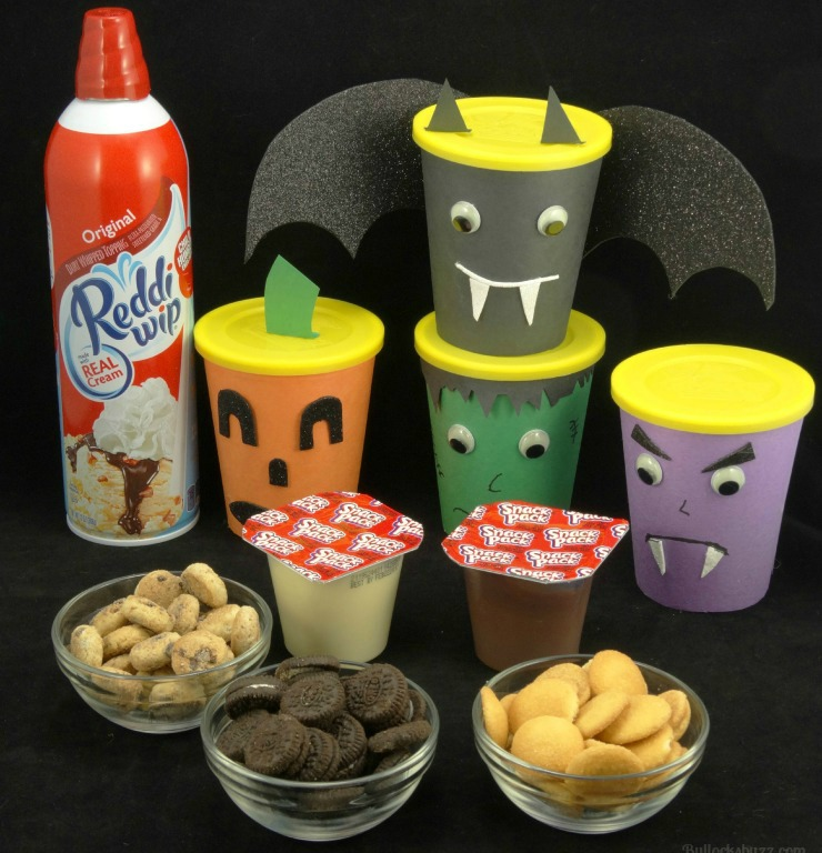 Halloween Monster Snack Cups Go Paks ingredients for treats